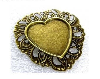 Support heart 1 X bronze ring