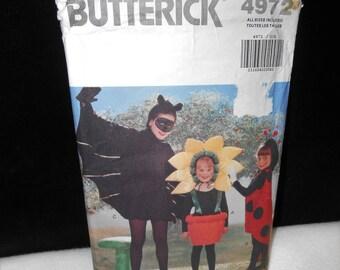 Boys Costume Bat Butterick 4972 Girls Costumes Lady Bug Flower pot