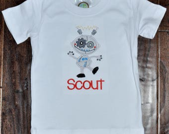 Robot Applique Shirt