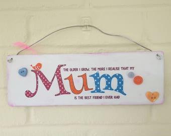 Beautiful Mum Plaque