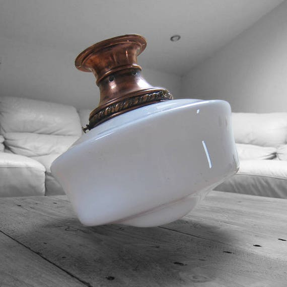 Globe Light Opaline Milk Globe Pendant Ceiling Glass Lamp Art Deco