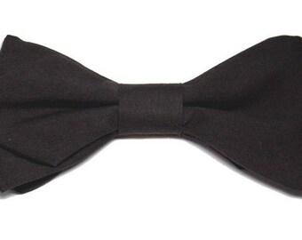 Sharp edges dark brown bowtie
