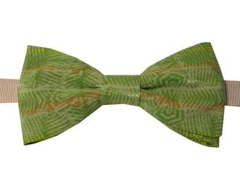 Bowtie green olive with straight edges
