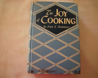 The joy of cooking-cookbook-bobbs merrill co.-copyright 1946-884 pages-kitchen and dining-home cooks-