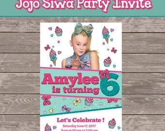 Jojo Siwa Party Invitation (digital file only)
