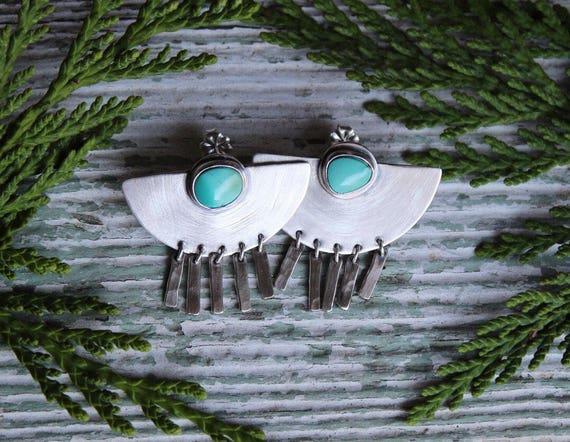 Silver Fringe Earrings Pair #10
