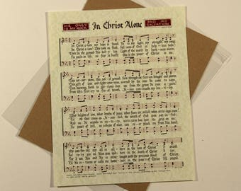 In Christ Alone - Hand Lettered Calligraphy Print - Getty Music - Christian décor -Scripture -Wall art