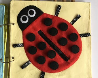 The Ladybug Quiet Book Page