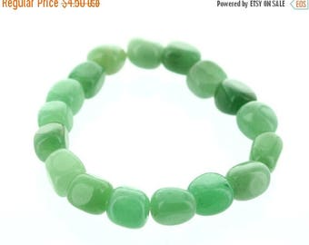 ON SALE Green Aventurine Tumble stone Bracelet