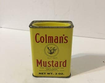 Vintage Colemans Mustard Tin