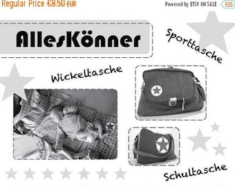 """Summer Sale Farbenmix pattern diaper bag """"All-rounder"""""""