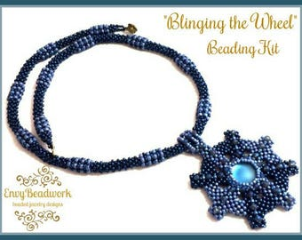 """Beads only Kit: """"Blinging the Wheel"""" Necklace D.I.Y"""