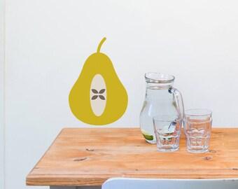Wall Sticker Pear - Decal - Pear Decor- woodland - Wall stickers - home decor - wall stickers kitchen