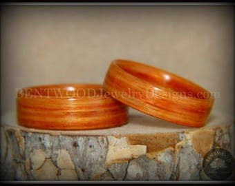 "Bentwood Rings - "" Tennessee Tulip Pair"" Tulipwood Ring Set"