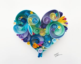 "Quilled Paper Art: ""For Your Love"""