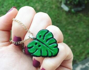 Esotic leaf necklace || Collana con foglia esotica