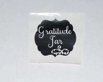 Gratitude Jar vinyl decal , do it yourself decal for mason jar, Christmas gift, teacher gift DIY