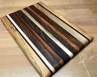 Ready to SHIP!! FREE SHIPPING!!!! Handmade Exotic Wood Cutting Board