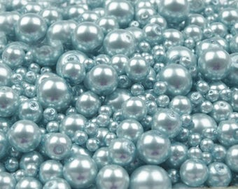 09-B - 100 g of 4-12 mm glass pearl beads different sizes