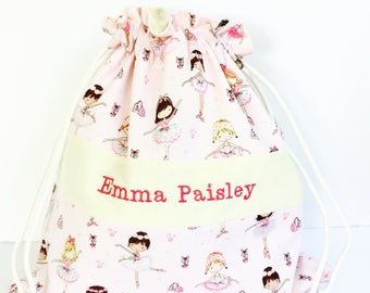 Personalized ballet bag - Ballerina bag - Girls dance bag - Personalized bags for girls - Ballet bag - Dance bag - Drawstring bag