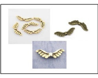 12 - Angel Wing Beads 22mm x 7mm