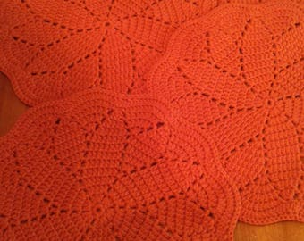 Crocheted Flower Design Placemats