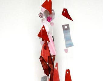 20% OFF Glass wind chimes - stained glass mobile - stained glass wind chime