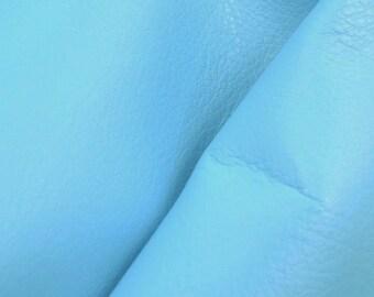 """Perfect Princess Blue """"Signature"""" Leather Cow Hide 12"""" x 12"""" Pre-cut 3-4 oz DE-60505 (Sec. 8,Shelf 3,D)"""