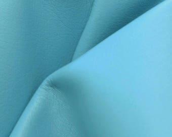 "Leather Cow hide side 25.1 sf Perfect Princess Blue ""Signature"" 2 1/2-3 ounces DE-60381 (Sec. 9,Shelf 1,A)"