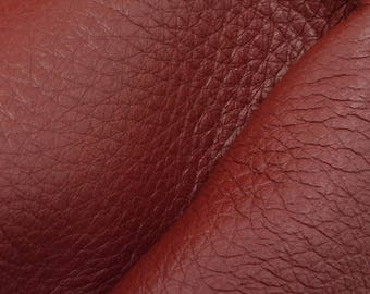 "Riptide Red Leather New Zealand Deer Hide 8""x10"" Pre-cut 4 ounces -10 DE-66109 (Sec. 3,Shelf 2,D)"