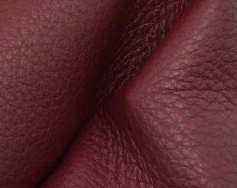 "Romantic Ruby Red Leather New Zealand Deer Hide 8""x 10"" Pre-cut 3-4 ounces-22 DE-66144 (Sec. 4,Shelf 2,B)"