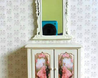 OFFER! Dollhouse dresser + mirror esc 1:12