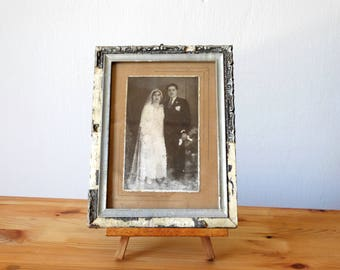 Wedding Portrait, Old Wedding Photo, Antique Framed Portrait, Bride And Groom Photo, Old Framed Photograph, Framed Photo, Wedding Photograph