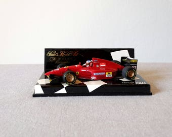 Ferrari 412 T1, Minichamps Matchbox Car, Ferrari Miniature, Scale 1:43 Die Cast Car, Model Car, Pauls Model Art, Ferrari Matchbox, Alesi