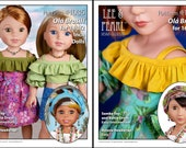 L&P #1035: Olá Brasil! Samba Top, Bahia Dress and Traditional Baiana Headwrap — Sewing Pattern BUNDLE for 16 Inch and 14 1/2 Inch Play Dolls