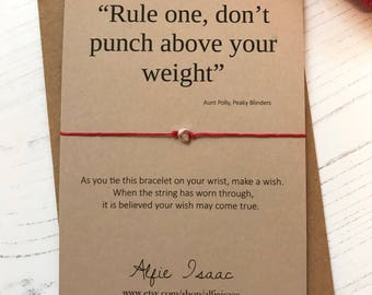 Wish Bracelet - Rule One ... Peaky Blinders quote sentiment card with envelope