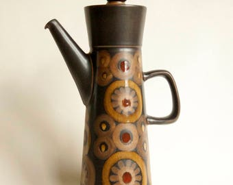 Vintage Retro 1960s/70s DENBY ARABESQUE (SAMARKAND) Coffee Pot designed by Gill Pemberton