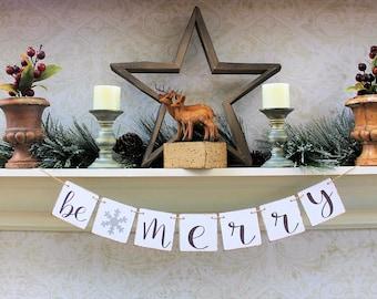 CHRISTMAS BANNERS, CHRISTMAS Party Decor, Secret Santa Gift, hOLIDAY dECORATIONS