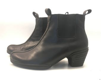 black boots with star