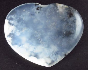 "Rare Merlinite Tumbled Heart from Brazil - 1.7"""