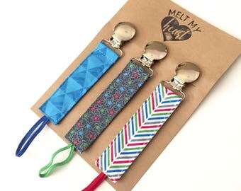 Pacifier Clips - Jackson Collection