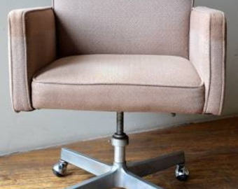 Mid Century Modern Tweed Low-Back Desk Chair