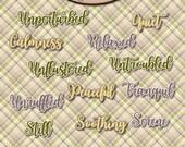 Digital Scrapbooking, Word Art: Inner Calm