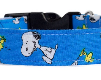 Noddy & Sweets Adjustable Clasp Collar with Charm [Snoopy Oh Joy! Blue]