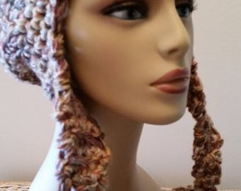 ON SALE Trapper Hat Helmet Ear Flap Crochet