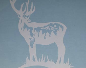 Majestic Buck Vinyl Decal