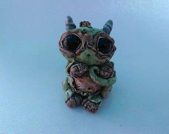 Cute Baby Monkey Dragon Clay Creature Sculpture