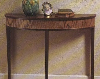 Bow Front Table Woodworking Plans