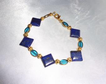 Lapis Lazuli Bracelet,Lapis Bracelet,Gold Bracelet,Bule Bracelet.Lapis Lazuli Jewelry,Gemstone Bracelet,Lapis Luzuli,Egyptian Bracelet,Lapis