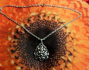Vintage Trifari Necklace Pendant Signed